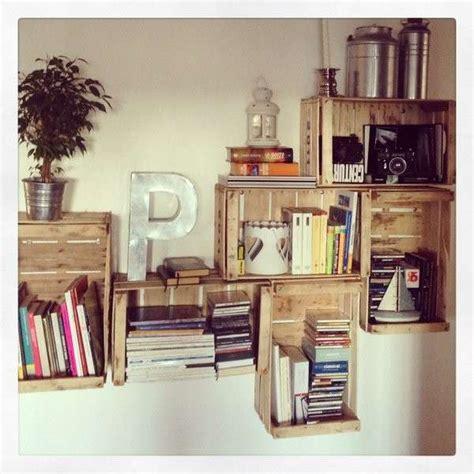 libreria con cassette di legno libreria con cassette di legno librerie con materiale di