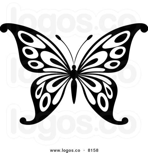 royalty free stock illustrations and photos clipart royalty free vector of a black and white butterfly logo by