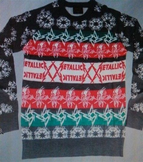 metallica xmas jumper metallica christmas sweater holidays pinterest