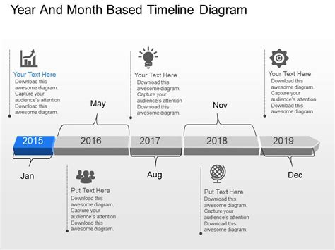 su year and month based timeline diagram powerpoint template
