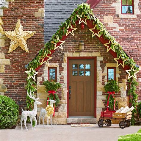 outdoor lights christmas decorating ideas for bungalow 3 festive facades