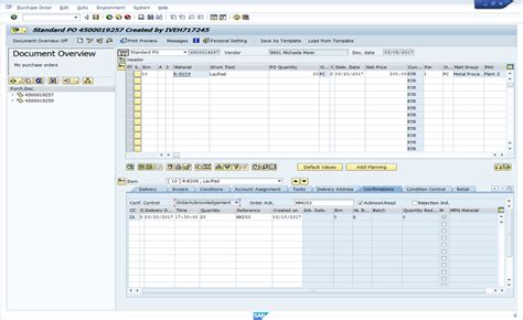 sap tutorial purchase order sap purchase order acknowledgement free sap mm training