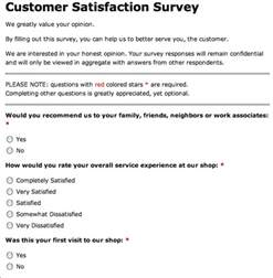 Customer Service Survey by Why Your Auto Repair Shop Or Tire Store Needs Customer Satisfaction Surveys Auto Shop