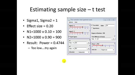 Cross Sectional Study Sle Size Estimation T Test