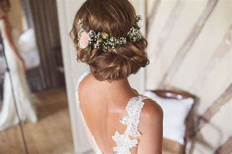 Wedding Updos With Flowers In Hair by Wedding Hairstyles 15 Fab Ways To Wear Flowers In Your