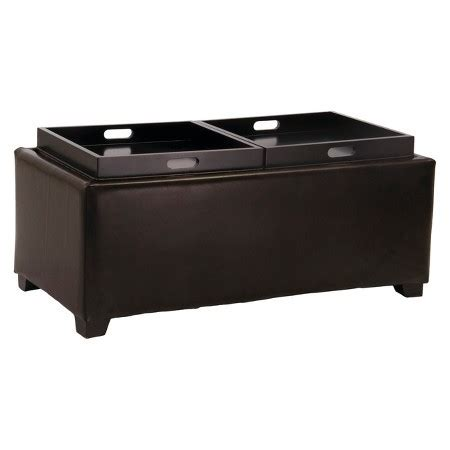 flip tray ottoman maxwell double flip tray cocktail ottoman with storage