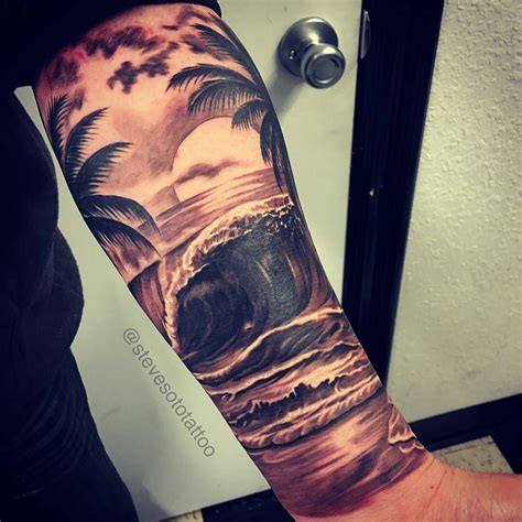 upper sleeve tattoo of what i m looking for on arm underwater on