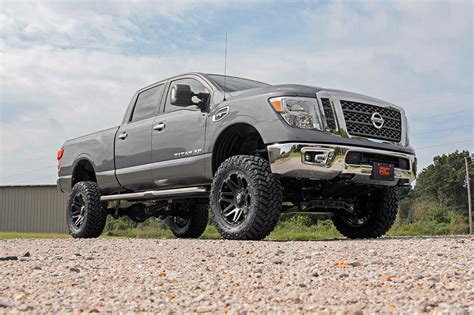 nissan titan cummins lifted rou 877 20 rough country 6in suspension lift kit fits