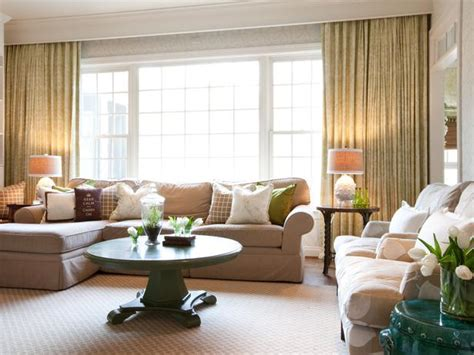 Neutral Green Living Room by Neutral Traditional Living Room With Green Accents