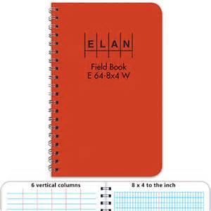 survey field book template elan economy field book e64 8x4w student field book