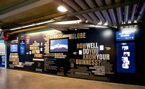 infographic wall ipads facebook guinness building an exhibition for