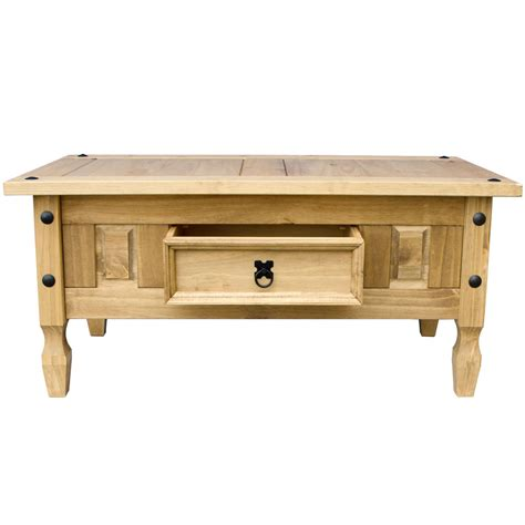 panama console table 2 drawer solid waxed pine rustic corona panama coffee table nest of tables solid waxed pine