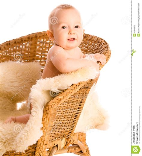 infant armchair smiling baby in armchair stock photos image 12846833