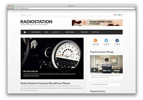 themes wordpress radio station 34 best responsive three column magazine wordpress themes
