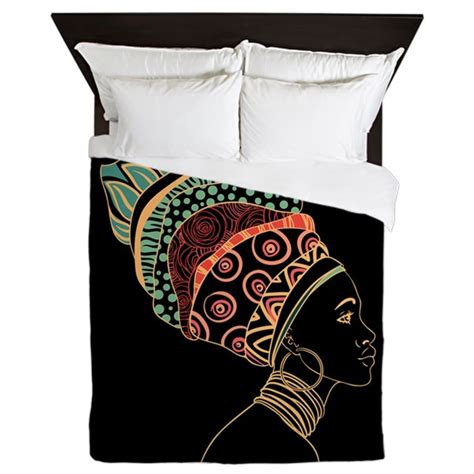african bedding african woman queen duvet by bestgear