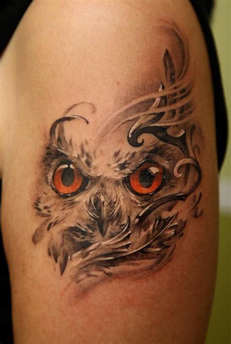 cool owl by dmitriy samohin tattoomagz