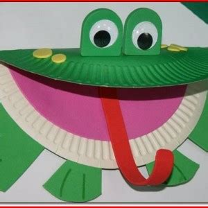 frog craft paper plate frog paper plate craft template project edu