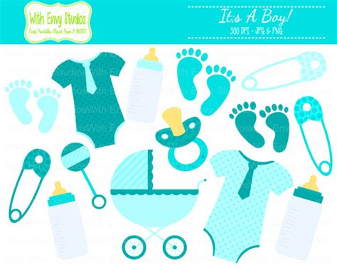 baby shower boy clip items similar to 50 baby boy clipart baby shower