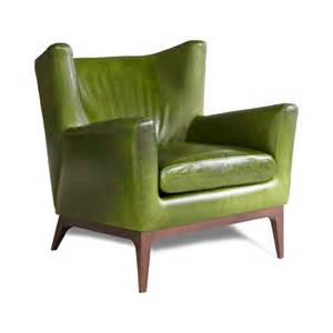 green leather chair furniture