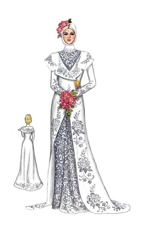 Dress Bunga Berkerah kebaya dan gaun pengantin muslim kebaya muslim and