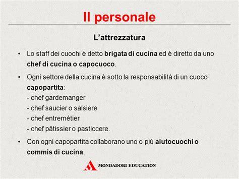 personale di cucina struttura e organizzazione dei locali ristorativi ppt
