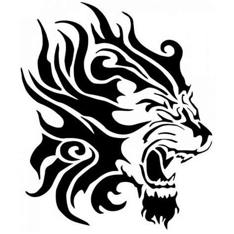 T 234 Te De Lion Grand Pochoir Tatouage Homme Tete De Lion Coloriage L