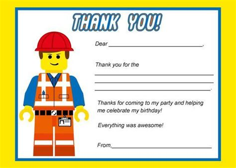 printable lego thank you cards 22 best images about lego thank you cards on pinterest