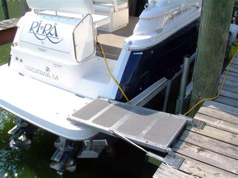 boat dock platform yacht boarding systems at st petersburg power sailboat