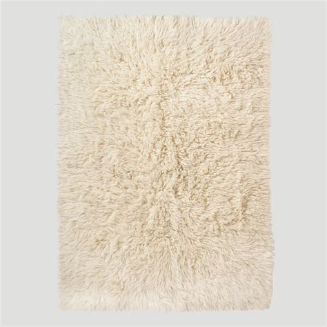 Ivory Flokati Wool Rug World Market Wool Rugs