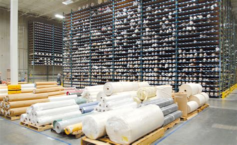 Upholstery Warehouse by Cantilever High Height Selective Pallet Rack In