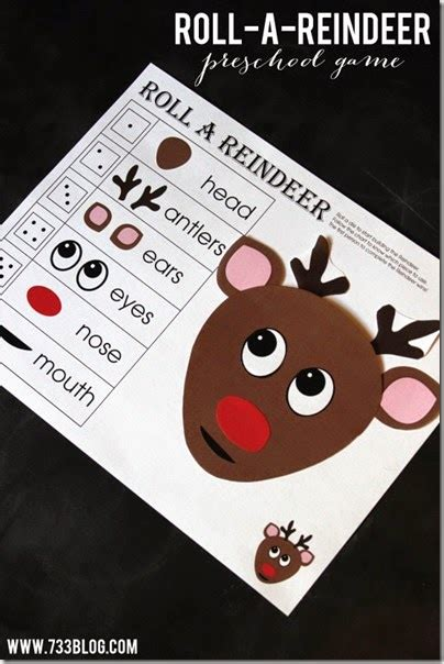 printable reindeer games free free printable reindeer game
