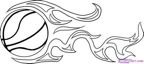 flaming basketball coloring pages how to draw a basketball step by step sports pop