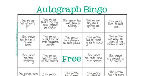 latter day chatter seminary autograph bingo