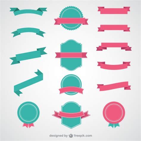 logo ribbon vector free ribbons and badges vector free