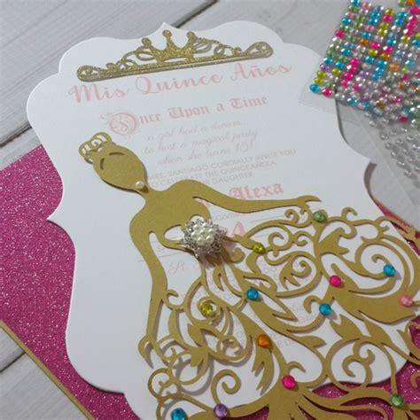 royal princess dress laser cut invitation jinkys crafts