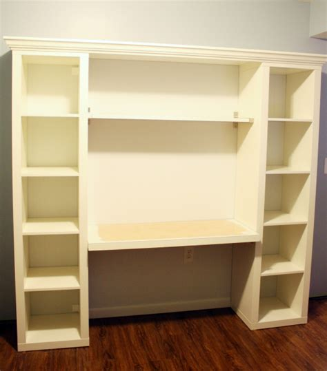 Built In Bookshelves With Desk How To Build Your Own Quot Built In Quot Desk From Ikea Billy