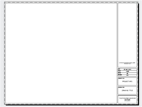 Autocad Title Block Template Title Blocks Cad Intentions