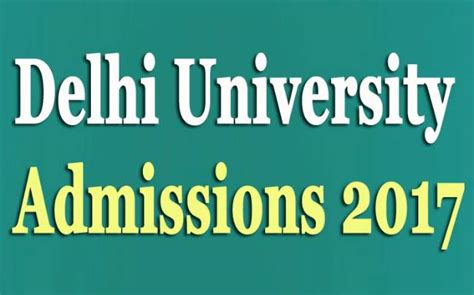 Delhi School Of Economics Mba Admission by Of Delhi Admissions 2017 Apply Now For Mba