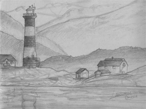 landscapes to draw easy pencil drawings of scenery search drawings pencil drawings