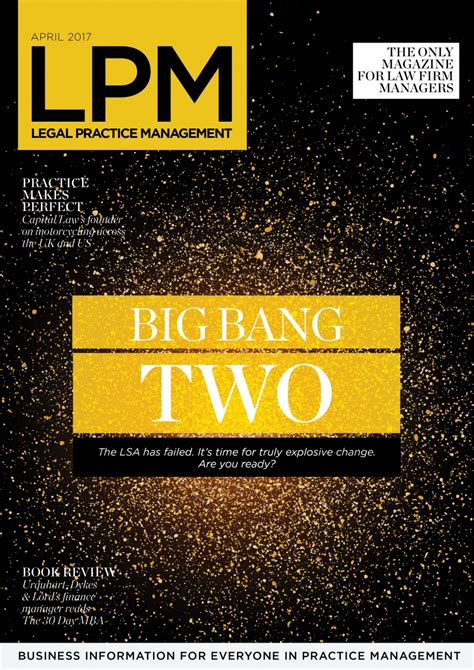30 Day Mba In Business Finance by Radical Regulatory Change Lpm Magazine April 2017 Big