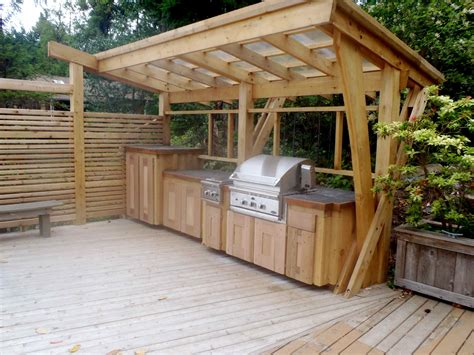 bbq kitchen ideas outdoor kitchen cedar bbq cover outdoor kitchen jpg