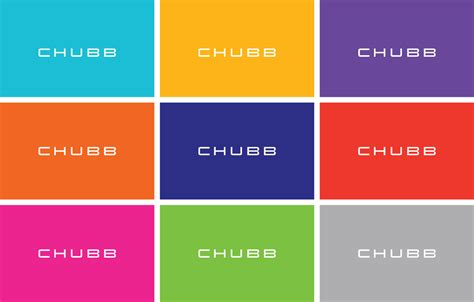 new colors brand new new logo and identity for chubb by collins
