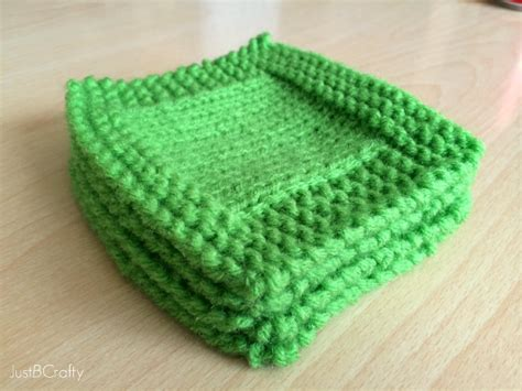 knit coaster pattern st s day knit cocktail coasters just be crafty