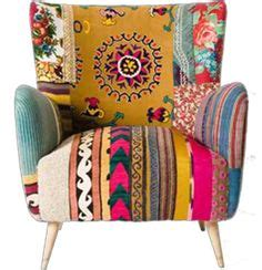 Boho Patchwork Chair - patchwork arty furniture on patchwork sofa