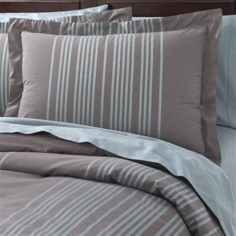Gray Stripe Comforter by Fieldcrest Luxury Blue Stripe Duvet Set 2 Shams
