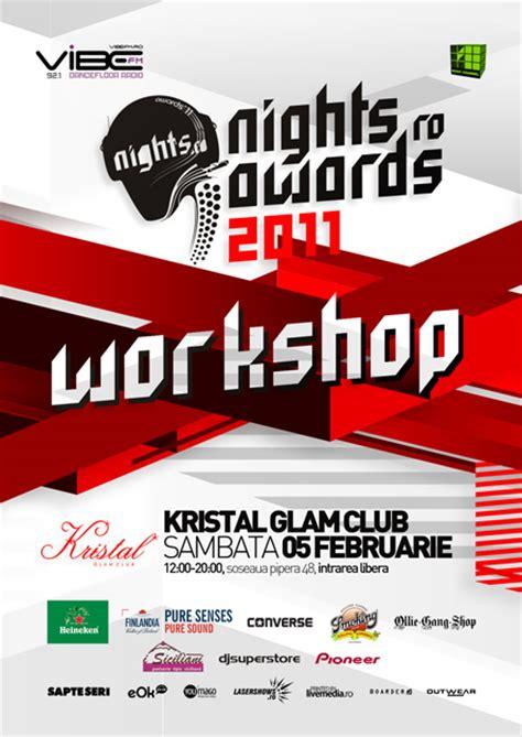 design flyer workshop nights ro awards 2011 identity design package nocturn
