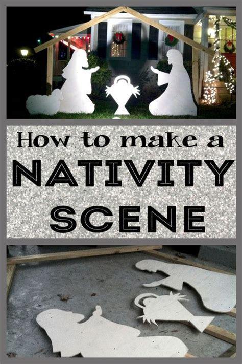 build   outdoor nativity scene christmas