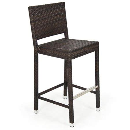 Walmart Wicker Bar Stools by Outdoor Wicker Barstool All Weather Brown Patio Furniture