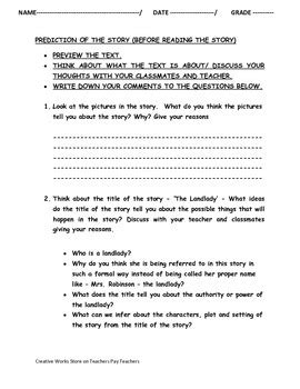 The Landlady By Roald Dahl Essay by The Landlady By Roald Dahl Quiz Worksheets And More Bundled