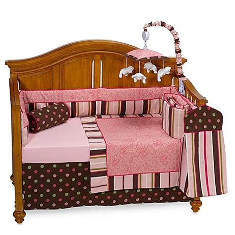 bananafish bedding bananafish 174 raspberry truffle 4 piece crib bedding set and